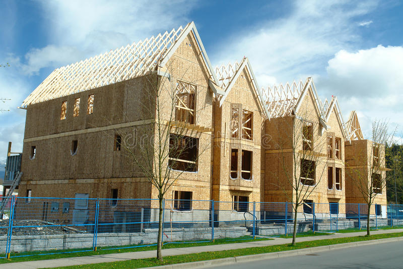 Row Houses Under Construction royalty free stock photos