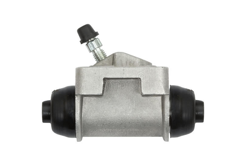 New hydraulic cylinder brake drum (isolated) royalty free stock photos