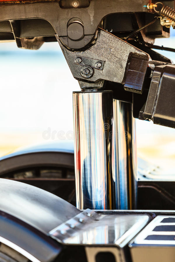 New hydraulic pistons closeup stock photo