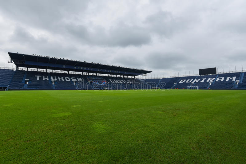 New i-mobile Stadium in Buriram, Thailand. Buriram,Thailand The i-mobile Stadium is the largest and modern football stadium in Thailand royalty free stock images