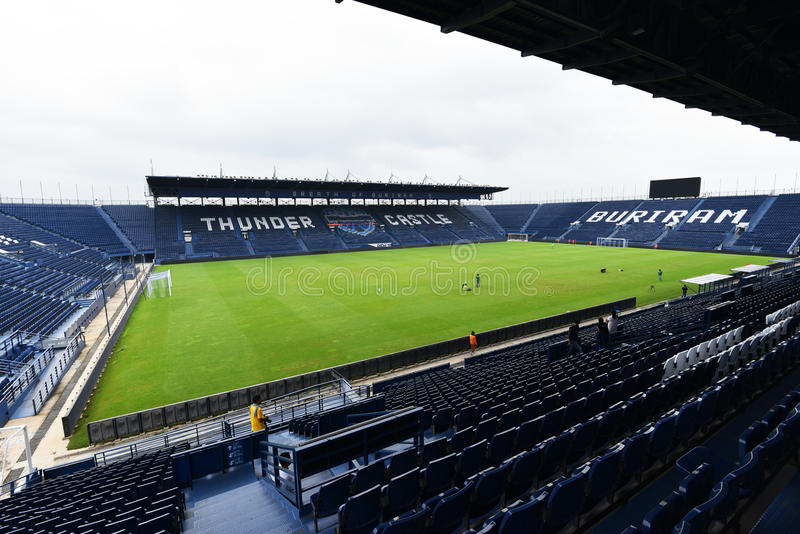 New i-mobile Stadium in Buriram, Thailand. Buriram,Thailand The i-mobile Stadium is the largest and modern football stadium in Thailand royalty free stock photography