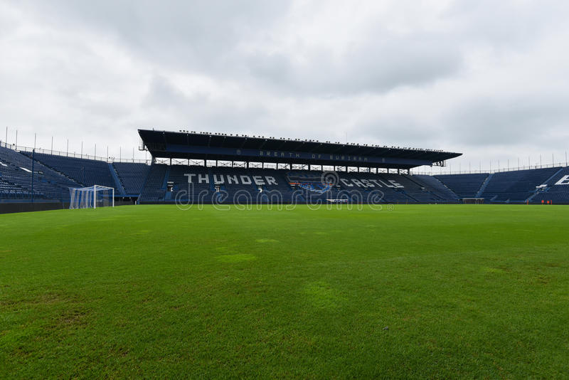 New i-mobile Stadium in Buriram, Thailand. Buriram,Thailand The i-mobile Stadium is the largest and modern football stadium in Thailand stock photo