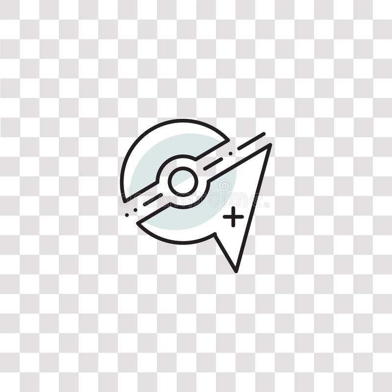 New icon sign and symbol. new color icon for website design and mobile app development. Simple Element from pokemon go collection. Isolated on black background vector illustration