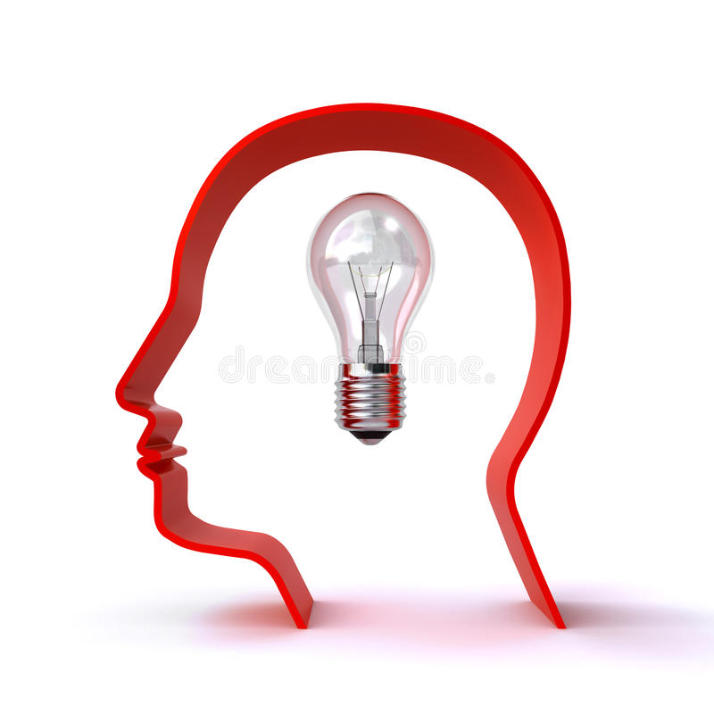 Download A new idea stock illustration. Image of glow, mind, creative - 31317800