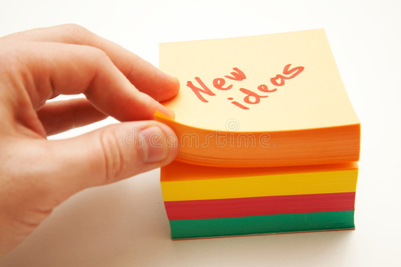 Download New ideas stock image. Image of blank, block, paper, colorful - 7947283
