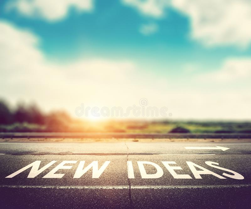 New ideas concept royalty free stock photography