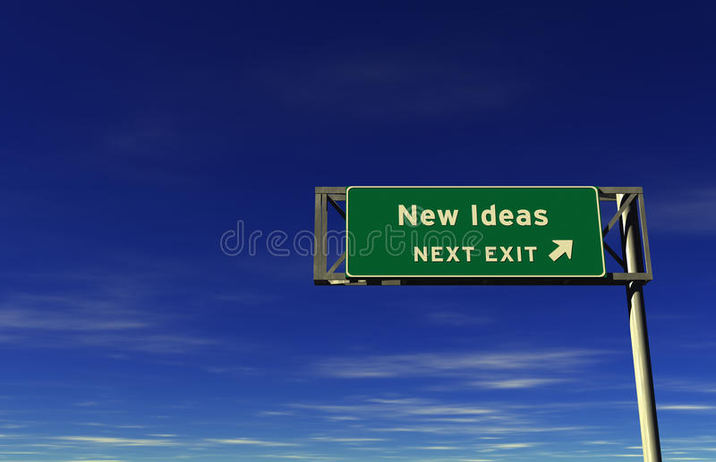New Ideas - Freeway Exit Sign vector illustration