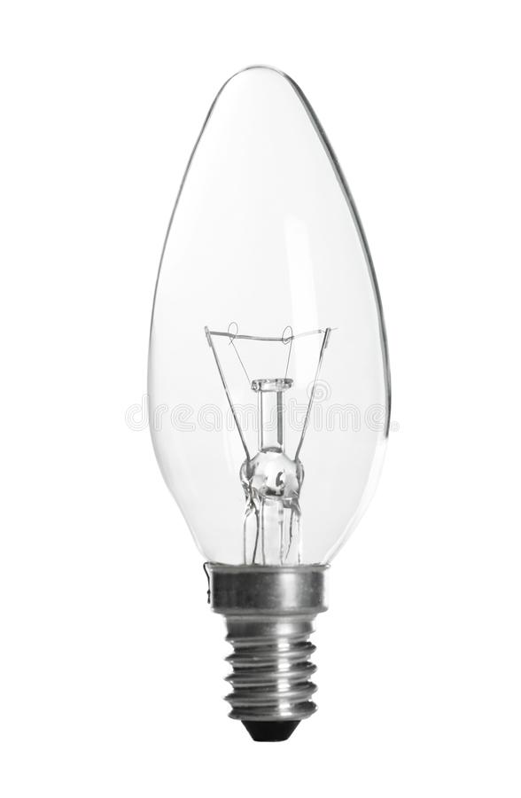 New incandescent light bulb for lamp on white. Background royalty free stock images