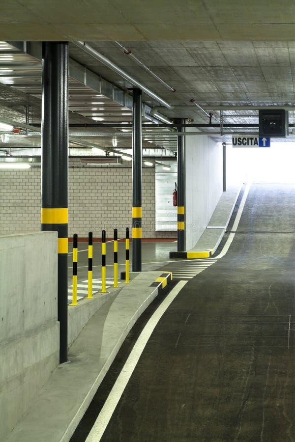 New indoors underground parking stock photography