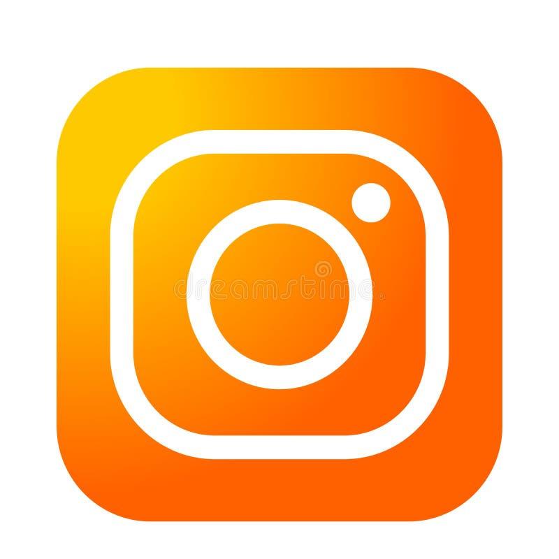 Vector Illustration Instagram: Orange Logo Design Vector Icon Stock Vector