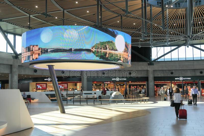 The new international terminal at Saint Exupery airport in Lyon, France. Lyon, France - September 12, 2017: The new international terminal at Saint Exupery stock image