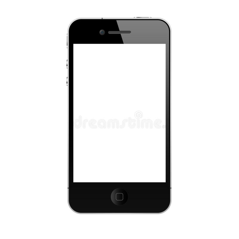The new iphone 4s. Iphone 4s black on white background