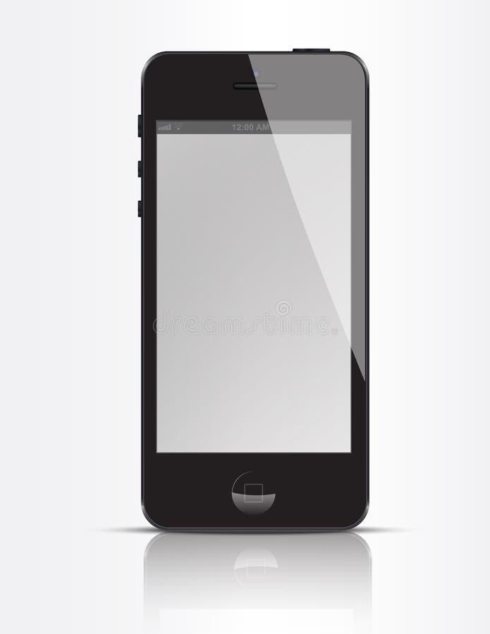 New iPhone 5 Black royalty free illustration