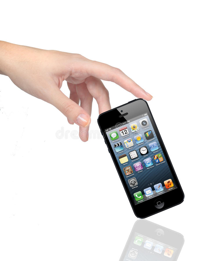 Download New IPhone 5 With Icons With Hand Editorial Image - Image: 26781160