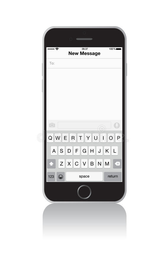 New IPhone 6 Message Screen Editorial Stock Photo