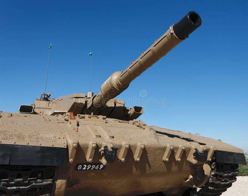 New Israeli Merkava Mark IV tank stock photo