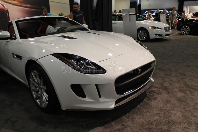 New 2014 Jaguar F Type Convertible Coupe Sports Car. 2013 Miami Autoshow In  South Florida.