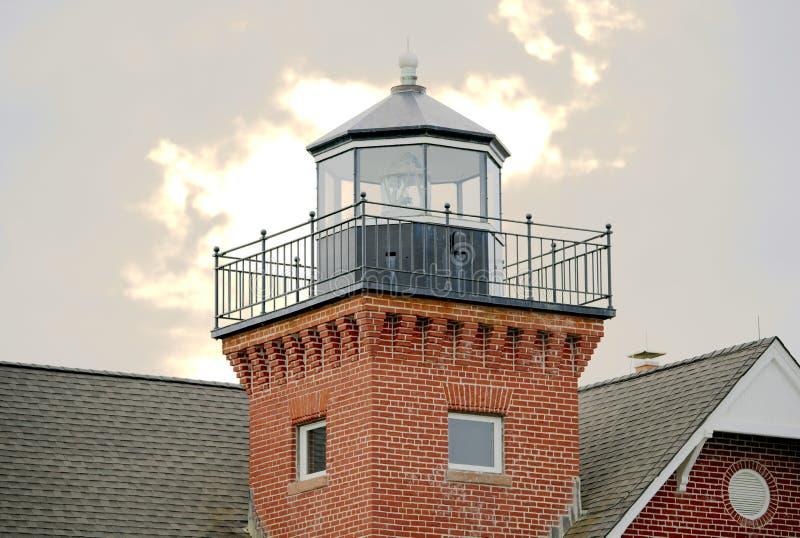 New Jersey de phare enserré par mer photo stock