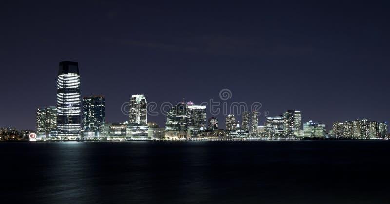 New-Jersey in der Nacht lizenzfreies stockbild
