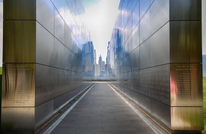New Jersey, Etats-Unis - 17 septembre 2018 : Ciel vide nouveau Yor commémoratif photographie stock
