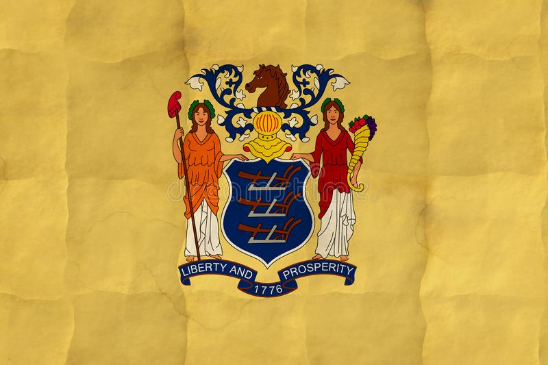 New-Jersey Flagge lizenzfreie abbildung