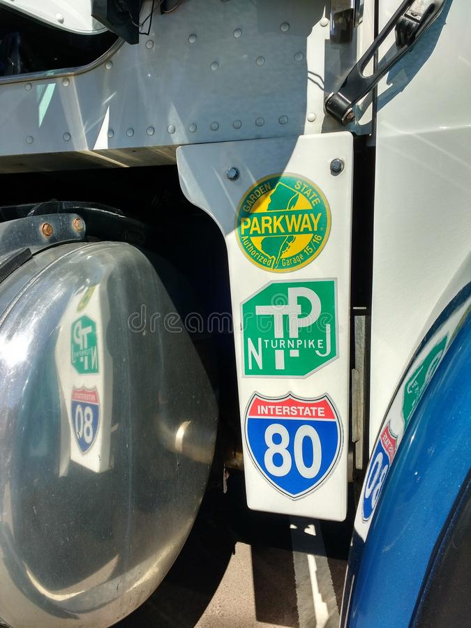 New Jersey Highways, Turnpike, Parkway, Interstate 80, USA stock photography