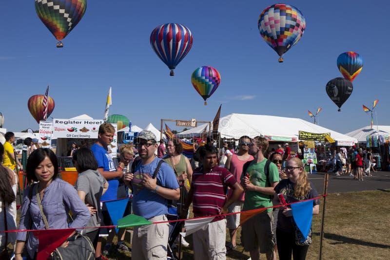 New-Jersey im Ballon aufsteigendes Festival stockbilder