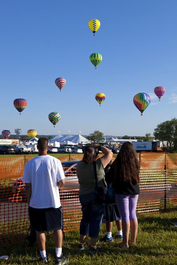 New-Jersey im Ballon aufsteigendes Festival in Whitehouse Station lizenzfreie stockbilder