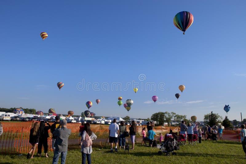 New-Jersey im Ballon aufsteigendes Festival in Whitehouse Station stockbilder