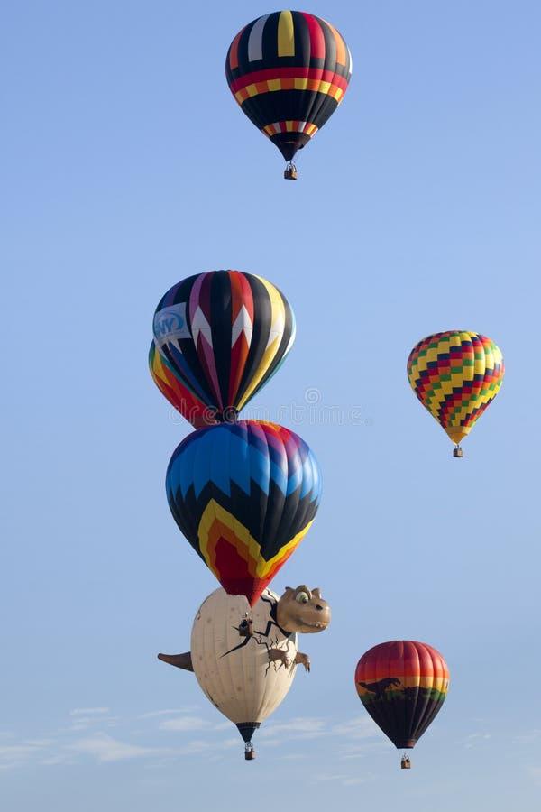 New-Jersey im Ballon aufsteigendes Festival in Whitehouse Station, lizenzfreies stockfoto