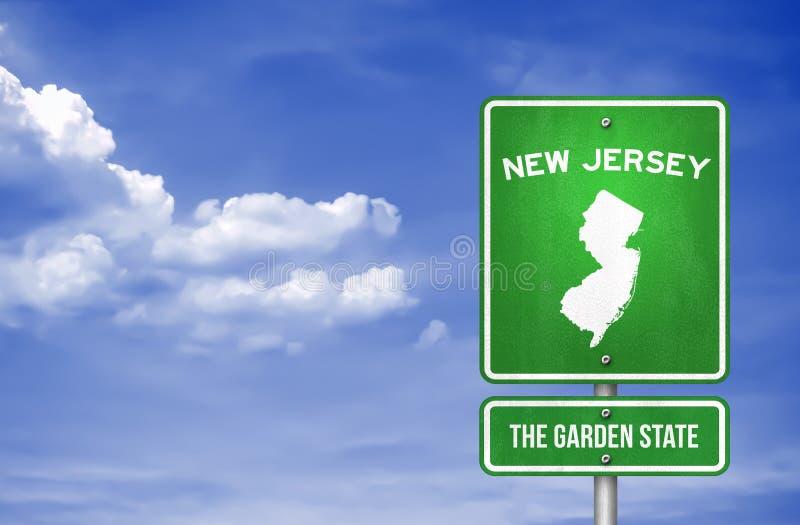 New-Jersey - New-Jersey Landstraßenzeichen lizenzfreie abbildung