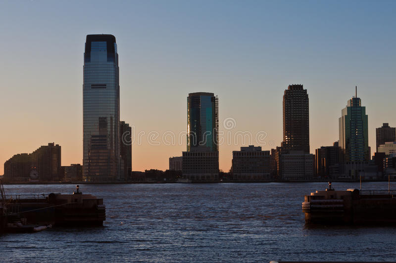 New Jersey from Manhattan Island royalty free stock image
