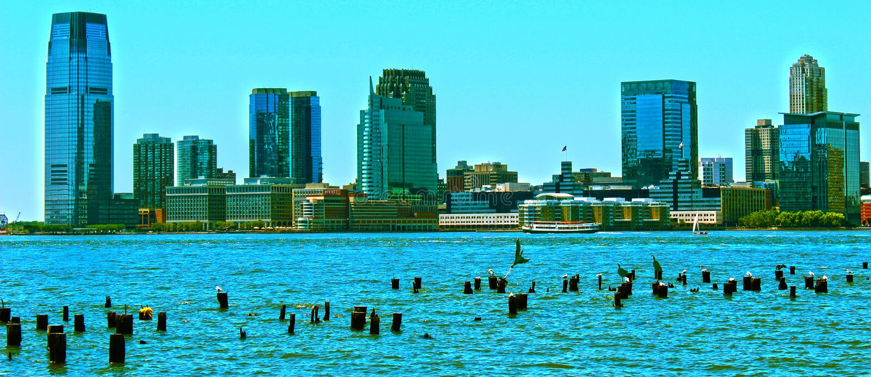 New-Jersey Skyline lizenzfreie stockbilder