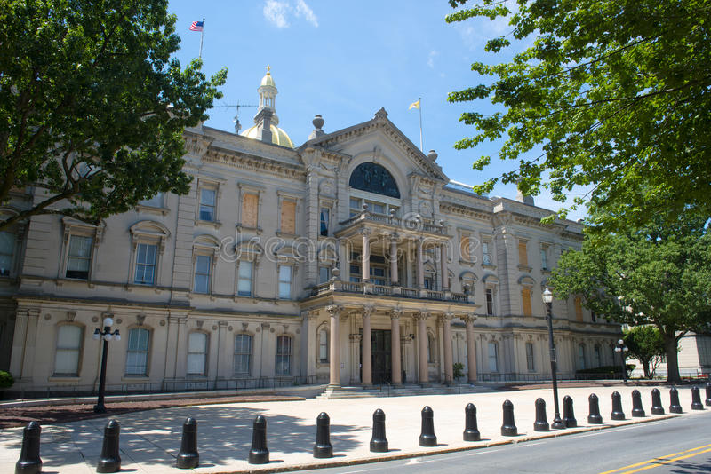 New Jersey State House, Trenton, NJ, USA. New Jersey State House, Trenton, New Jersey, USA. New Jersey State House is American Renaissance style built in 1792 stock image