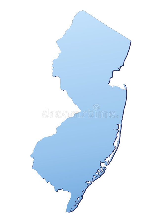 Download New Jersey(USA) map stock illustration. Image of blue - 4903864
