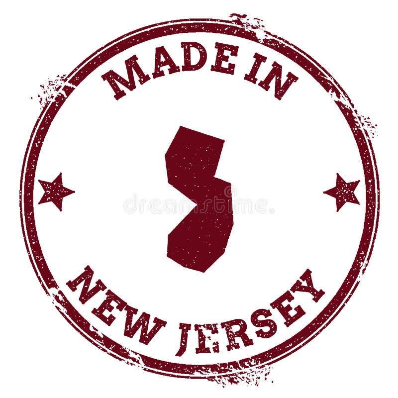 New-Jersey Vektordichtung lizenzfreie abbildung