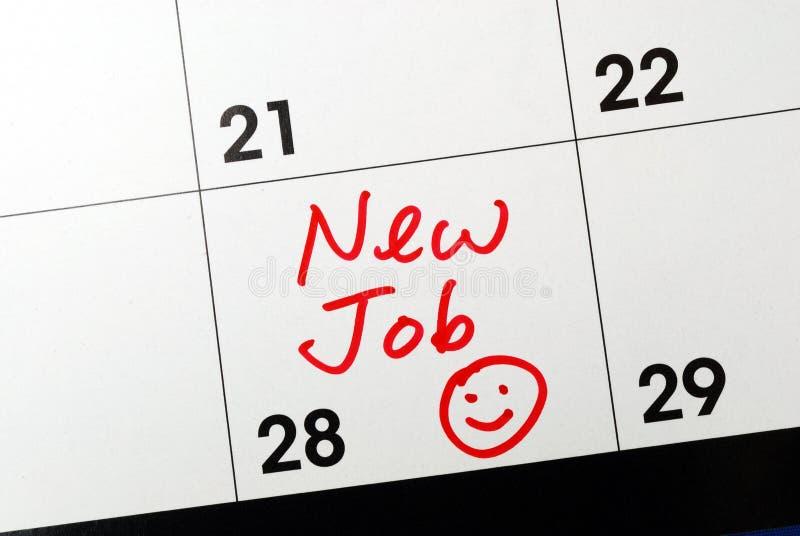 New job. Mark the calendar to go to a new job
