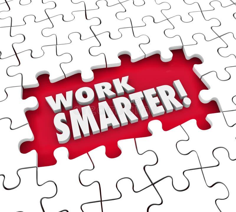 WORK SMARTER puzzle hole stock illustration