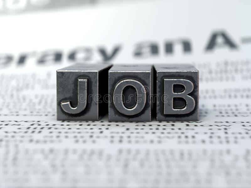 New Job concept,search a job. New Job concept,3d rendering,conceptual image stock photography