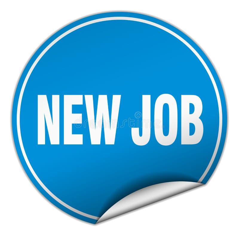 New job sticker. New job round sticker isolated on wite background. new job royalty free illustration