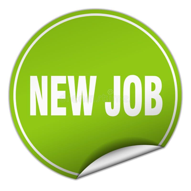 New job sticker. New job round sticker isolated on wite background. new job vector illustration