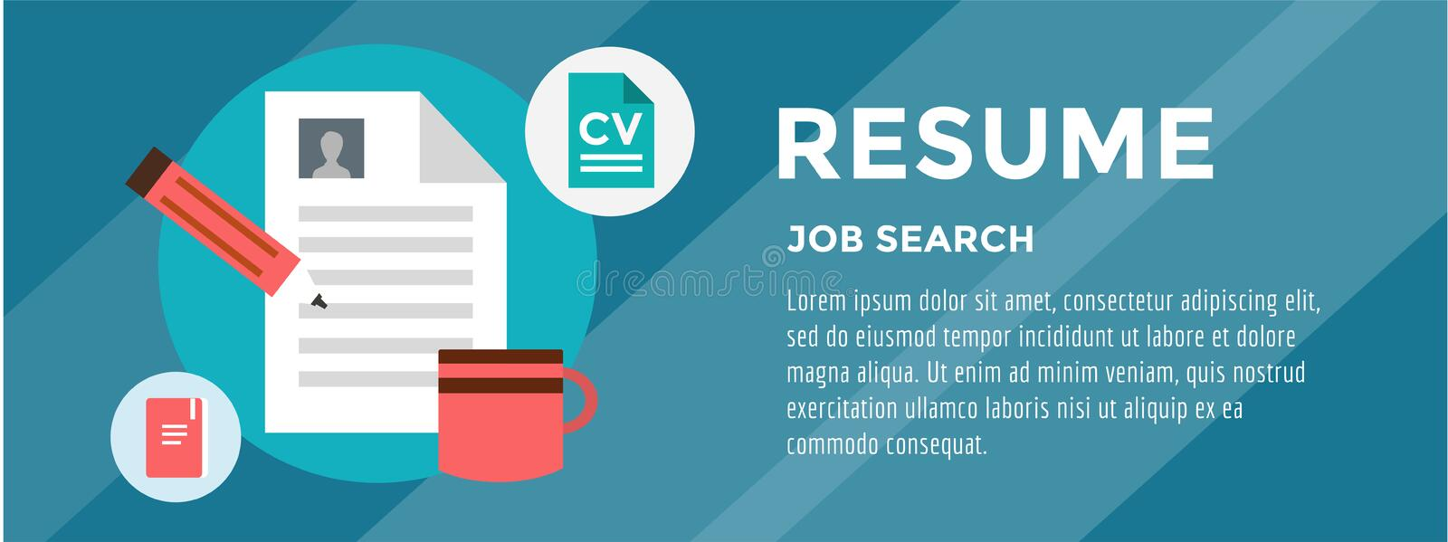 New Job Search. infographic. Recruitment, Office royalty free illustration