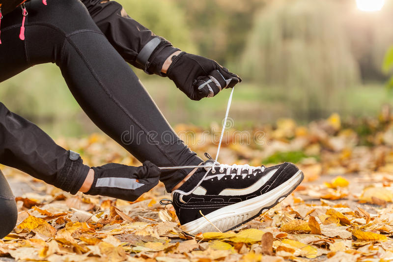 New jogging shoes royalty free stock photography