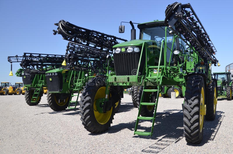 New John Deere crop sprayer stock photo