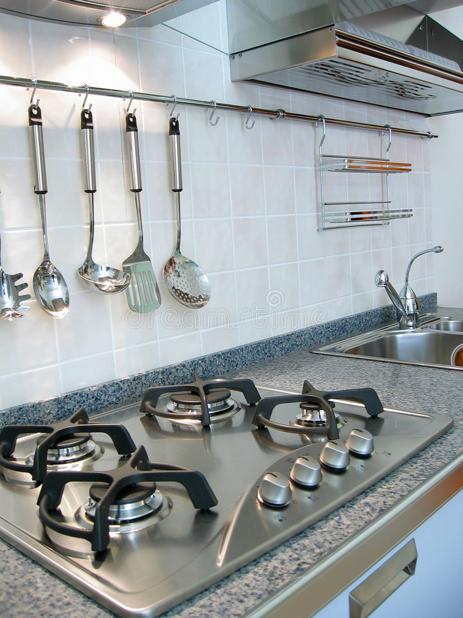 New kitchen. Interior stock photography