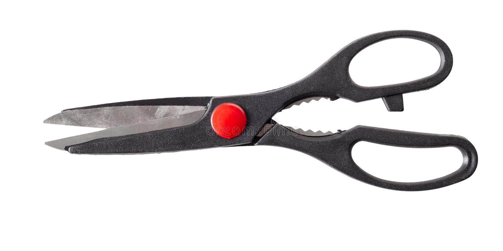 New kitchen scissors royalty free stock photography