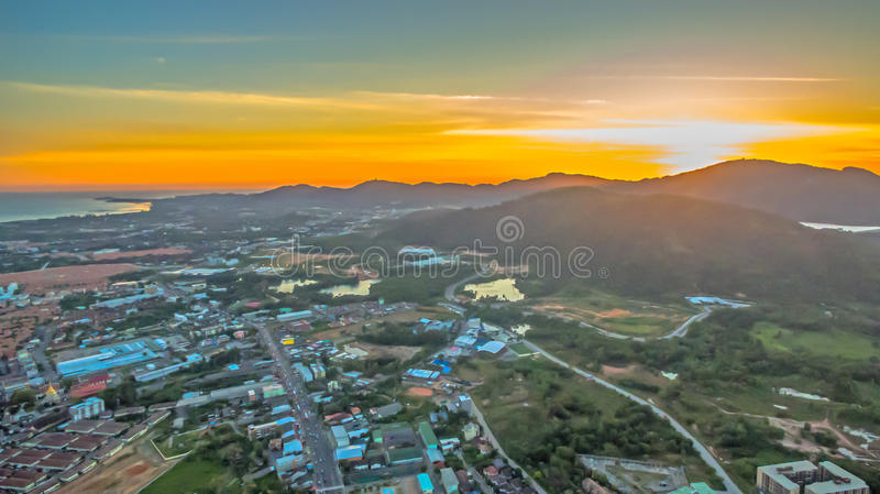 The new land mark in Phuket Darasamuth intersection. The new land mark Darasamuth intersection the main road of Phuket city there have new construction for royalty free stock image