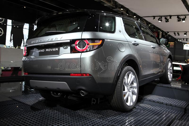 The New Land Rover Discovery. Displayed at the 2014 Paris Motor Show on October 16, 2014 in Paris royalty free stock photo