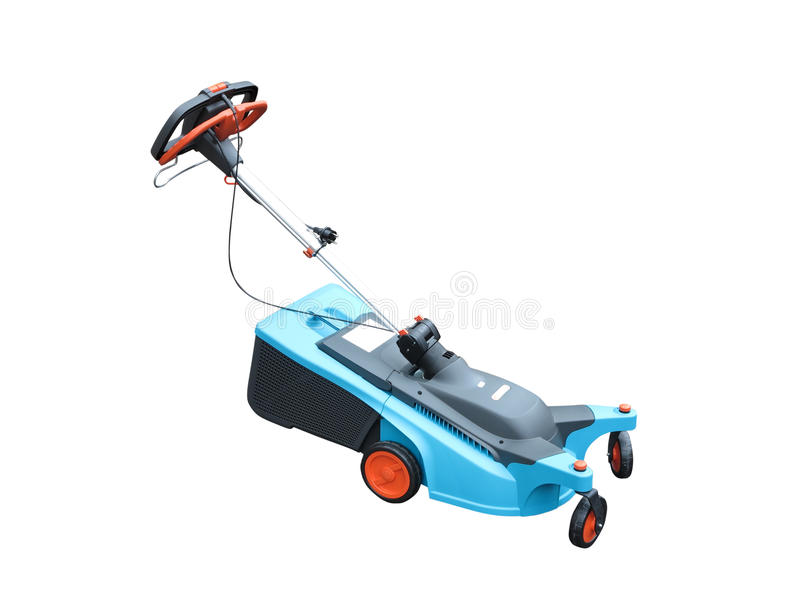 Download New Lawn Mower Isolated Over White Stock Photo - Image of mowing, lawnmower: 27737676