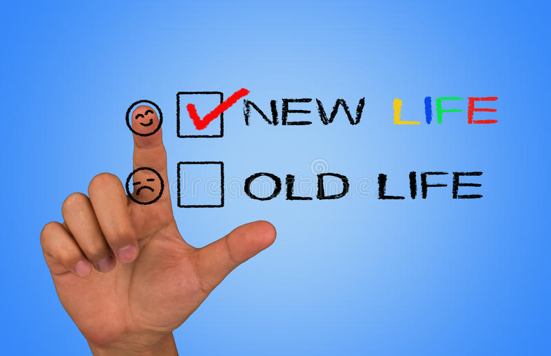 New life. With check box stock photography